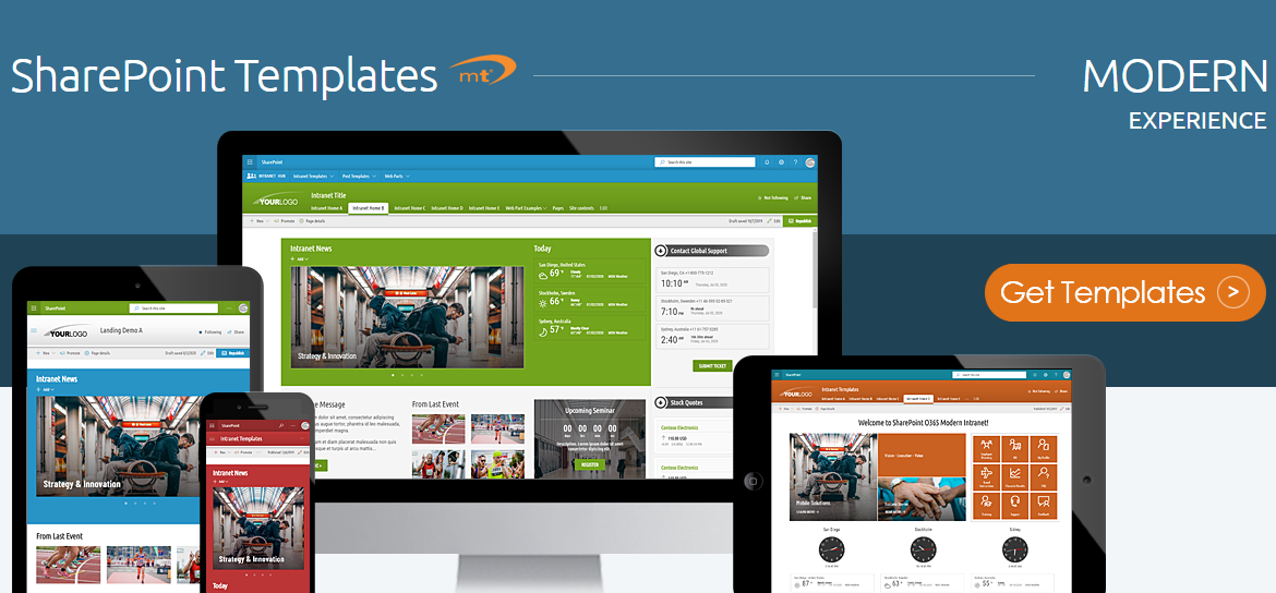 SharePoint Templates Modern Experience - SharePoint Themes - SharePoint Web Parts - SharePoint Starter Kits