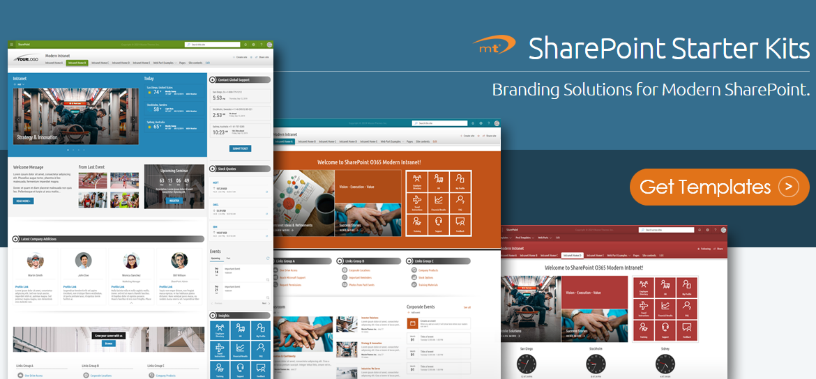 SharePoint Templates Classic Experience - SharePoint Themes - SharePoint Web Parts - SharePoint Starter Kits